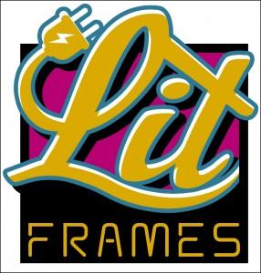Lit Frames pink logo